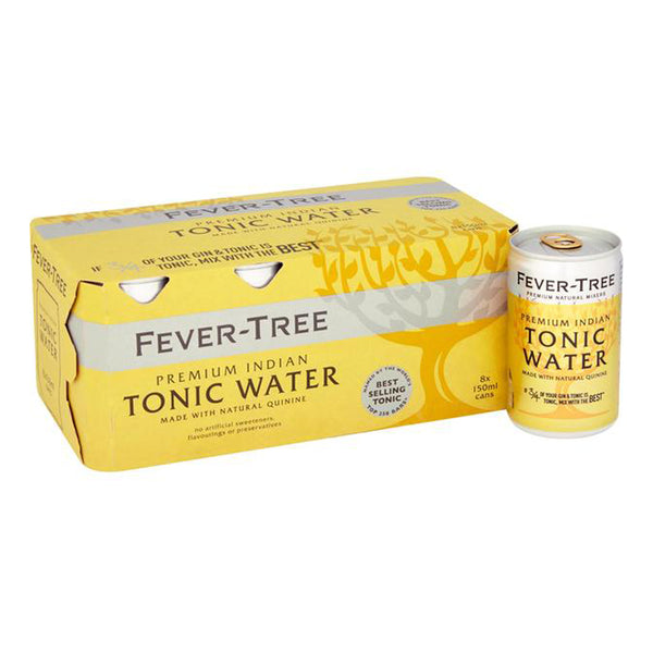 Fever Tree Premium Indian Tonic Water 150ml Cans