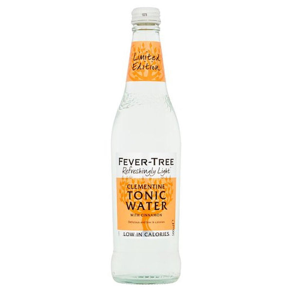 Fever Tree Refreshingly Light Clementine Tonic Water 500ml Glass Bottle