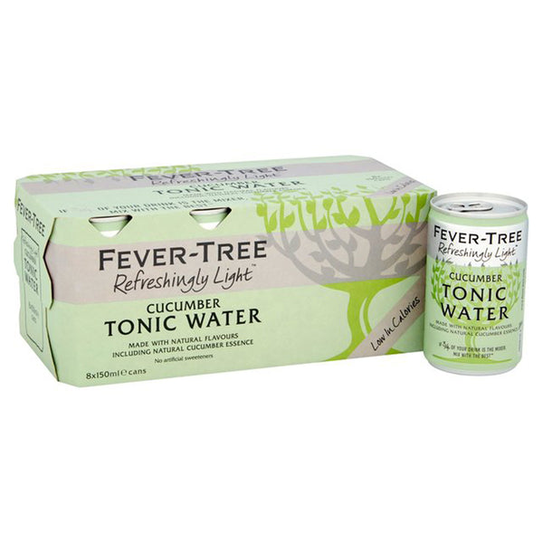 Fever Tree Refreshingly Light Cucumber Tonic Water 150ml Cans