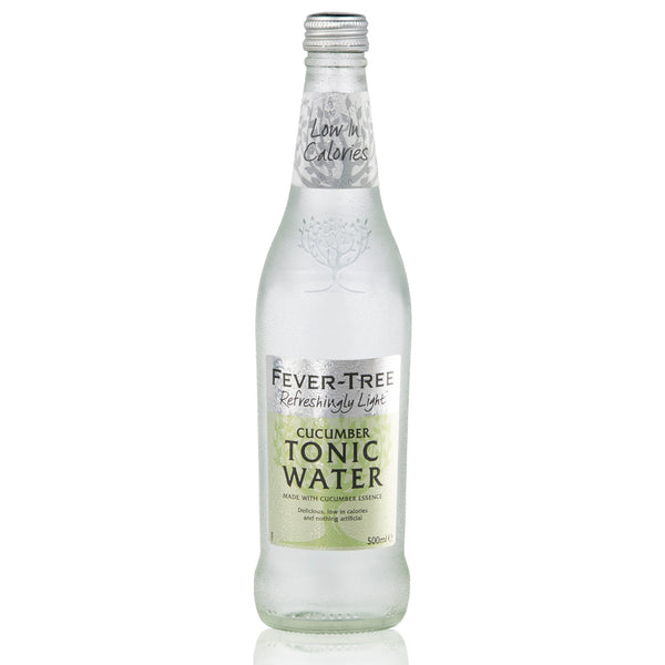 Fever Tree Refreshingly Light Cucumber Tonic Water 500ml Glass Bottles