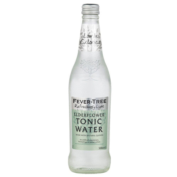 Fever Tree Refreshingly Light Elderflower Tonic Water 500ml Glass Bottle