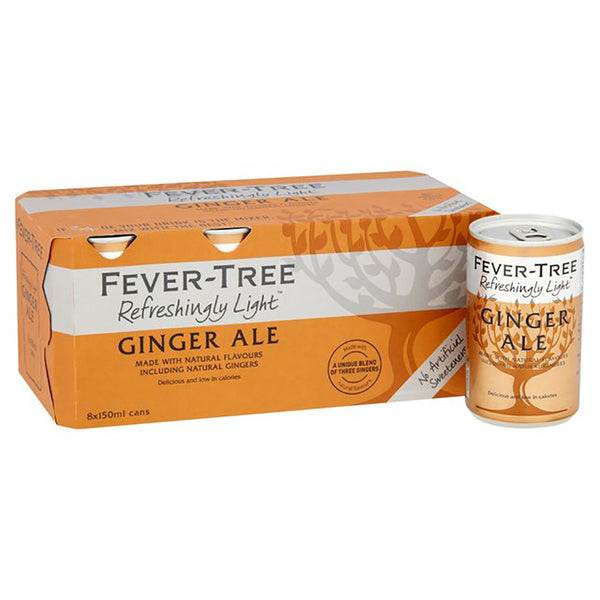 Fever Tree Refreshingly Light Ginger Ale 150ml Cans