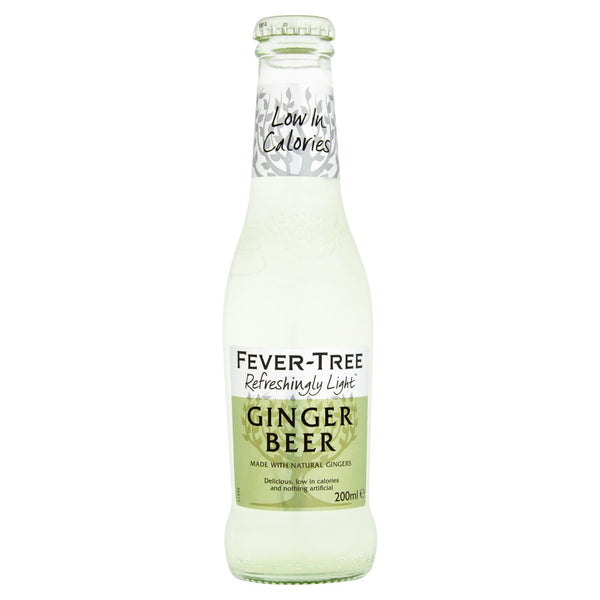 Fever Tree Refreshingly Light Ginger Beer 200ml Glass Bottle