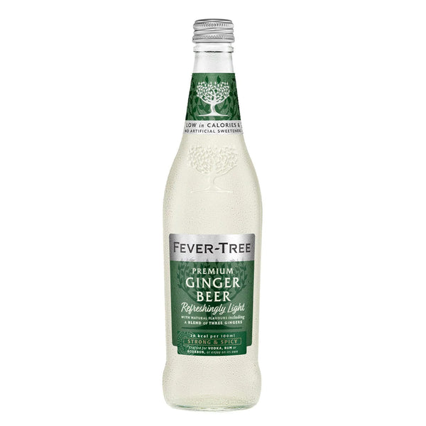 Fever Tree Refreshingly Light Ginger Beer 500ml Glass Bottle