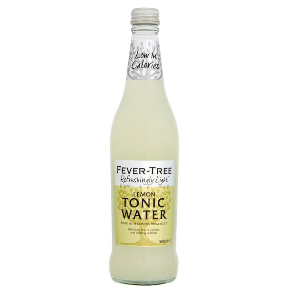 Fever Tree Refreshingly Light Lemon Tonic Water 500ml Glass Bottle