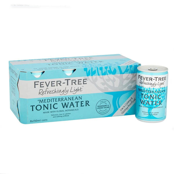 Fever Tree Refreshingly Light Mediterranean Tonic Water 150ml Cans