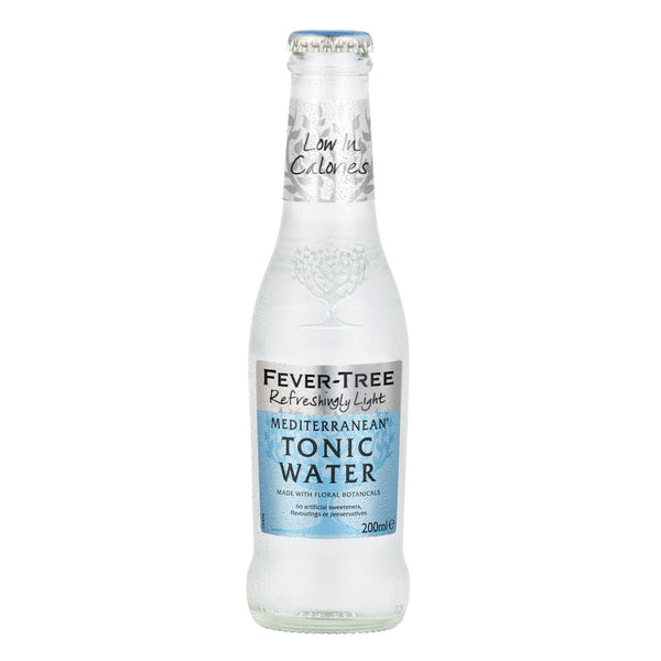 Fever Tree Refreshingly Light Mediterranean Tonic Water 200ml Glass Bottle