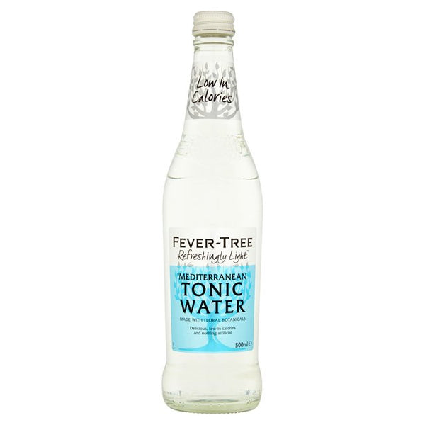 Fever Tree Refreshingly Light Mediterranean Tonic Water 500ml Glass Bottle