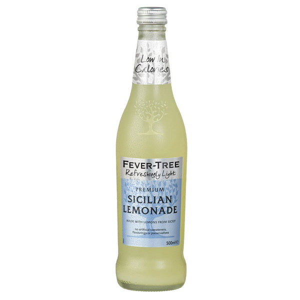Fever Tree Refreshingly Light Sicilian Lemonade 500ml Glass Bottle