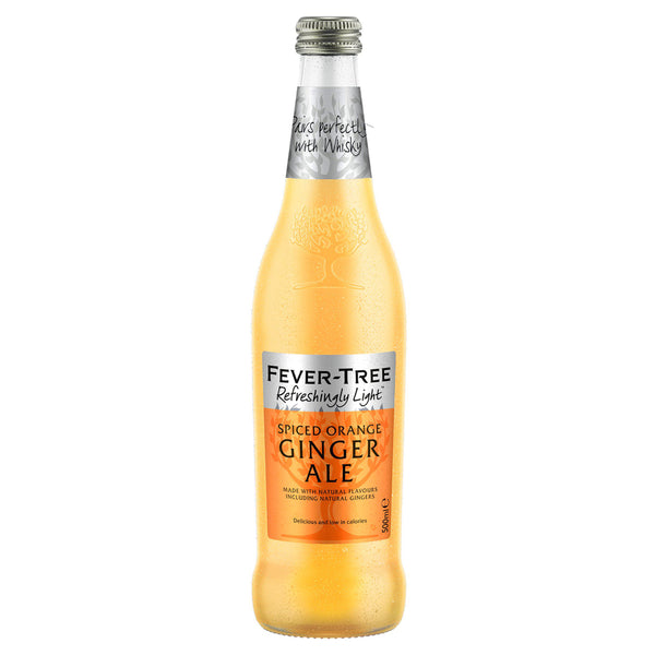 Fever Tree Refreshingly Light Spiced Orange Ginger Ale 500ml Glass Bottle