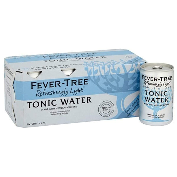 Fever Tree Refreshingly Light Indian Tonic Water 150ml Cans