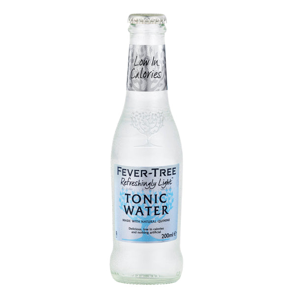 Fever Tree Refreshingly Light Indian Tonic Water 200ml Glass Bottle