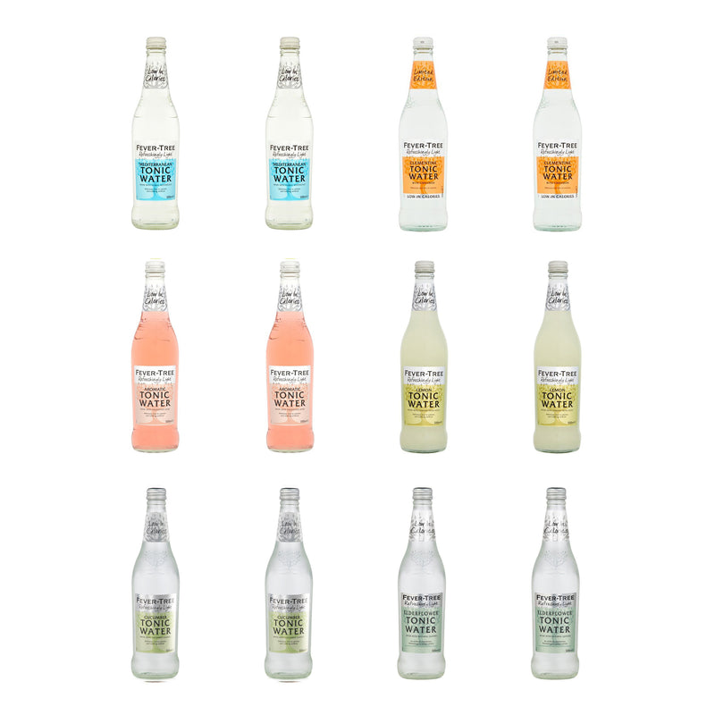 Fever Tree Light Tonic Selection 12 x 500ml Glass Bottle