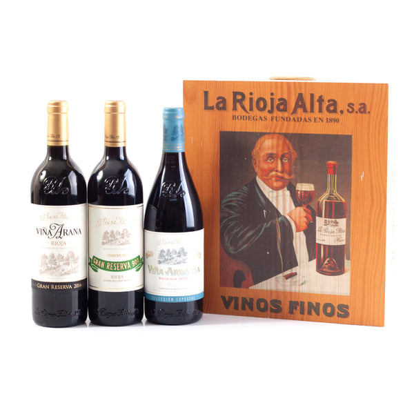 La Rioja Alta Luxury Box (3 x 75cl in Wooden Box)