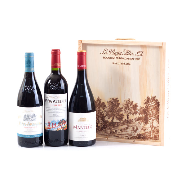La Rioja Alta Premium Box  (3 x 75cl in Wooden Box)