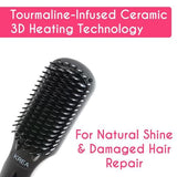 KREA Hair Straightener Brush (3D MCH Tourmaline Technology) Straightens Hair In 4 Mins