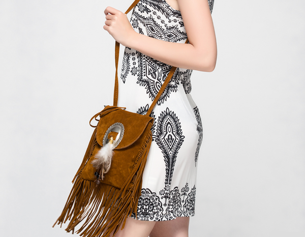 Boho Style Pu Leather Fringe Tassel Bag -Clutch bag - 30$fashion