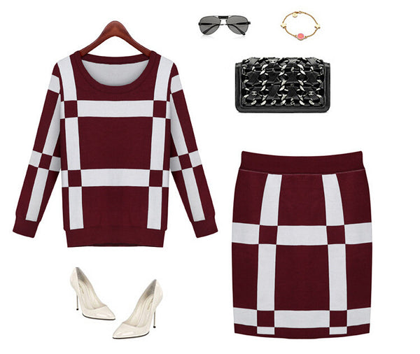 Two Piece Knit Suit -Dresses - 30$fashion