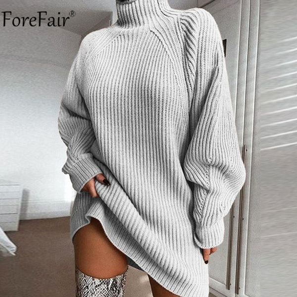 Cozy Knitted Turtleneck Dress