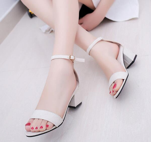 Women Peep-Toe Pumps With Ankle Strap