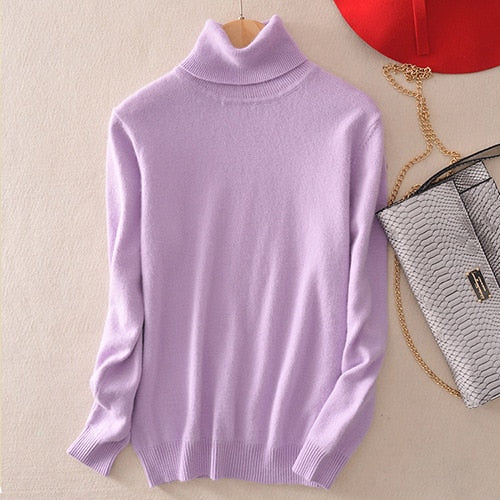 Turtleneck Ultra Soft Cashmere Blend Sweater