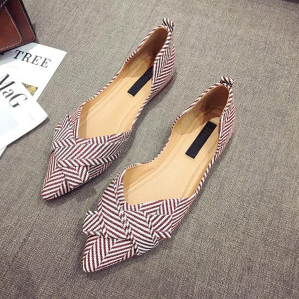 Pointed Toe Slip-On Flats