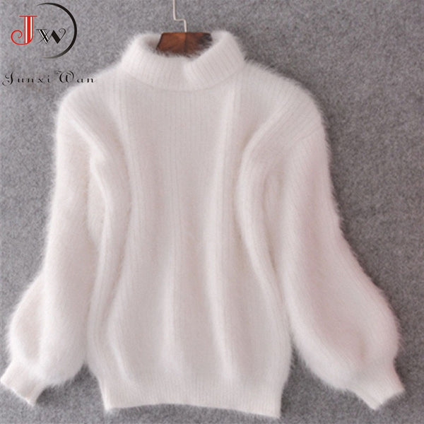 Cozy Mohair Turtleneck Sweater