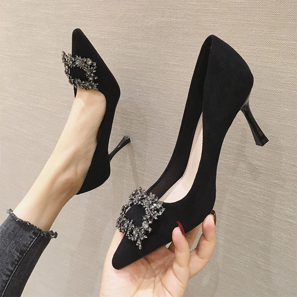 Fashion Stiletto Pump With Toe Decoration