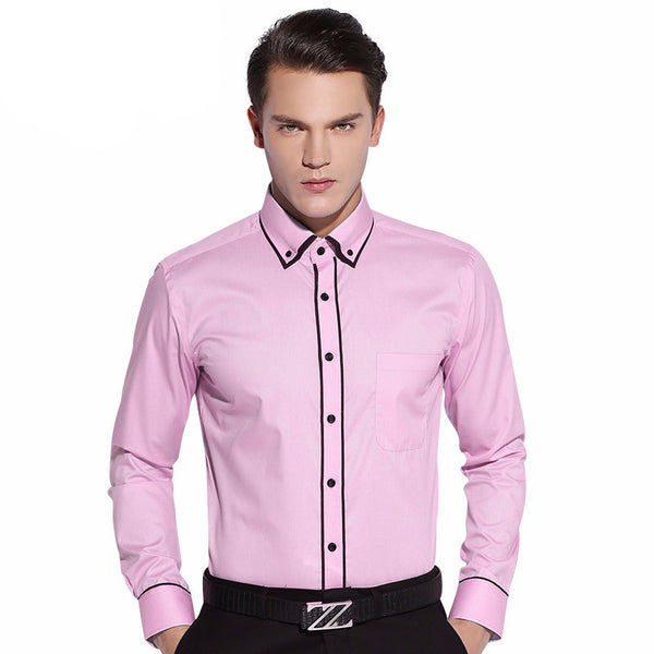 Casual Slim Fit Twill Shirt -Mens tops - 30$fashion