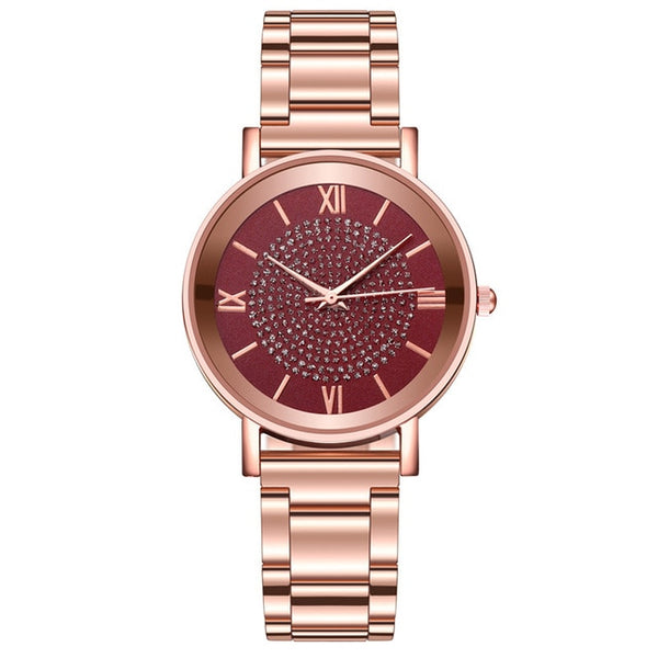 Women's Luxury Diamond Rose GoldWrist Watches