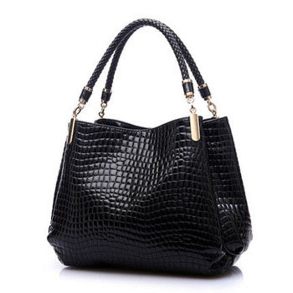 Alligator Design Leather Handbag -Handbags - 30$fashion