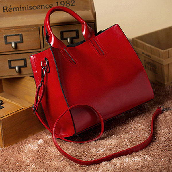 Square Shape Leather Handbag -Handbags - 30$fashion