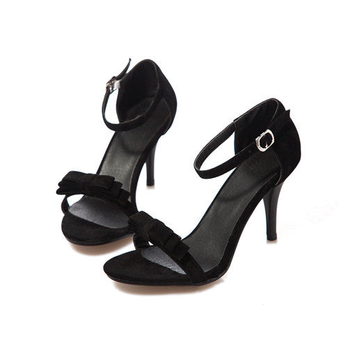 Bow Ankle Strap High Heels Sandals -Sandals - 30 Dollar Fashion