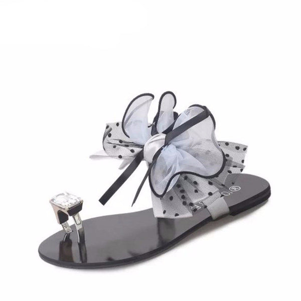Crystal Flat Sandals -Sandals - 30 Dollar Fashion