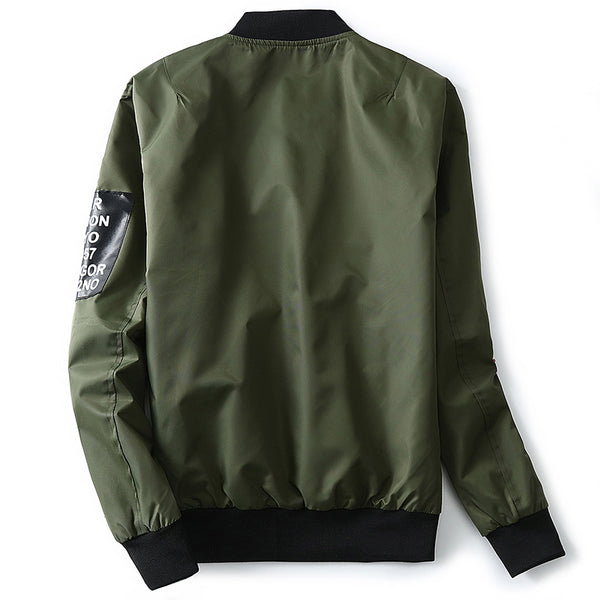 Pilot Bomber Jacket With Patches -Jackets - 30 Dollar Fashion