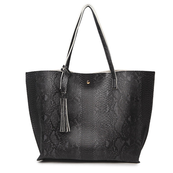 Serpentine Soft Leather Handbag -Handbags - 30$fashion