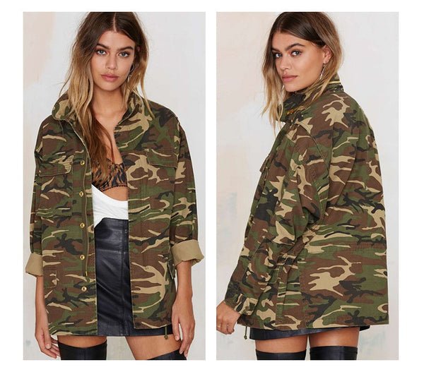 Camouflage Outwear Jacket -Ladies Jacket - 30$fashion