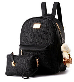 Circle Design Backpack With Teddy Totem -Backpack - 30 Dollar Fashion