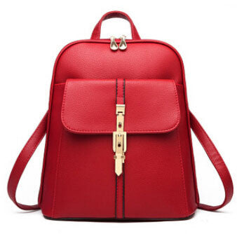 Gold Belt Leather Backpack -Backpack - 30$fashion
