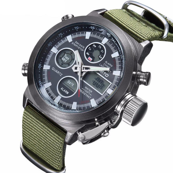 Digital Sports LED Waterproof Diving Wristwatch -men's watches - 30 Dollar Fashion