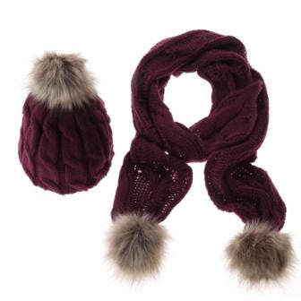 Knitted Scarf And Hat Set -Accessories - 30$fashion