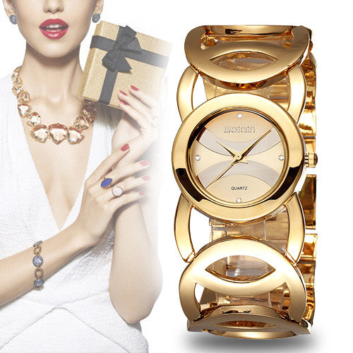 Crystal Gold Quartz Watch -ladies watches - 30$fashion
