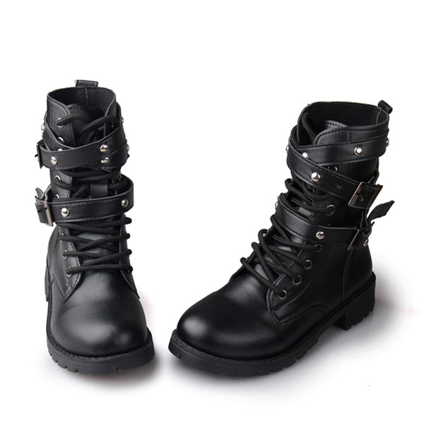 Rivet Combat Punk Boots -Boots - 30 Dollar Fashion
