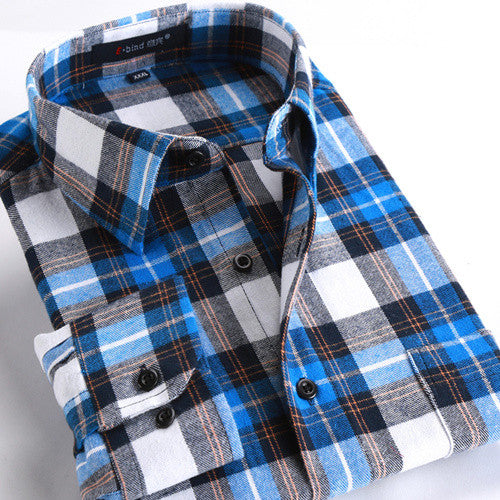 Soft Flannel Cotton Shirt -Mens tops - 30 Dollar Fashion