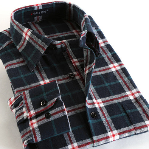 Soft Flannel Cotton Shirt -Mens tops - 30$fashion