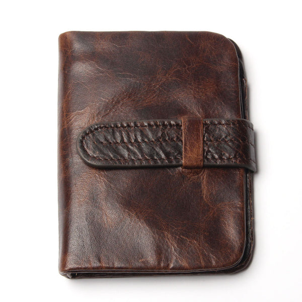 Vintage Genuine Cowhide Oil Wax Leather Wallet -Mens Accessories - 30$fashion