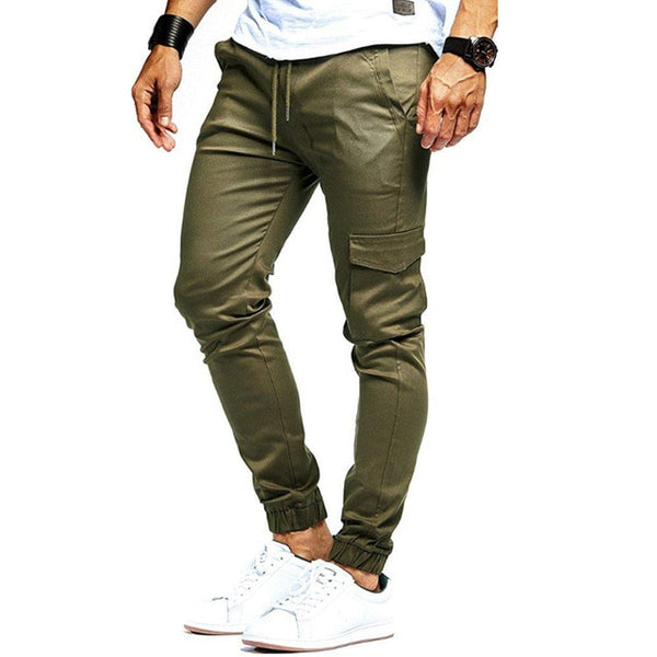 2019 Men Pants Fashion Brand Tooling Pockets Joggers New Pants Male Trousers Casual Mens Joggers Solid Pants Sweatpants - - 30$fashion