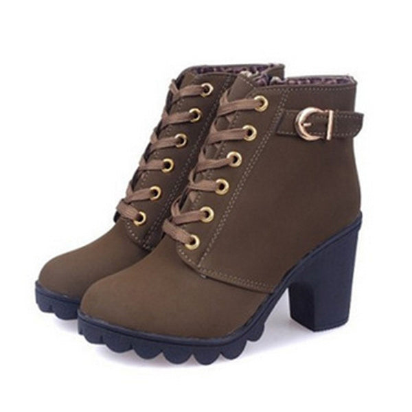 Ankle Lace up Boots -Boots - 30$fashion
