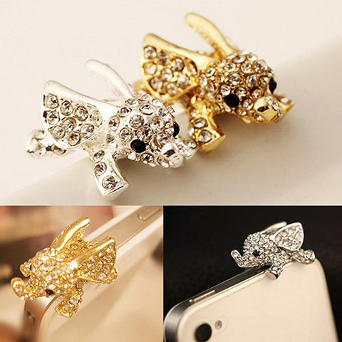 Flying Elephant Crystal Plug Earphone Cover