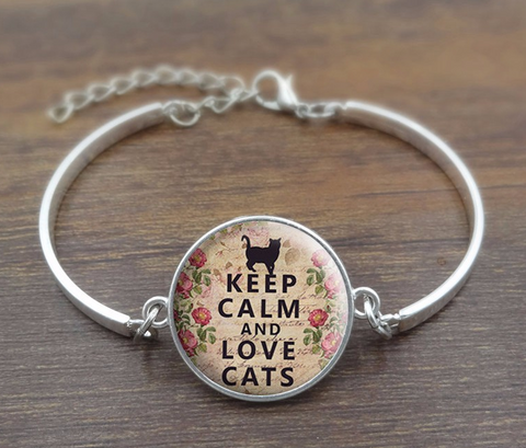 Keep Calm and Love Cats Bracelet Offer